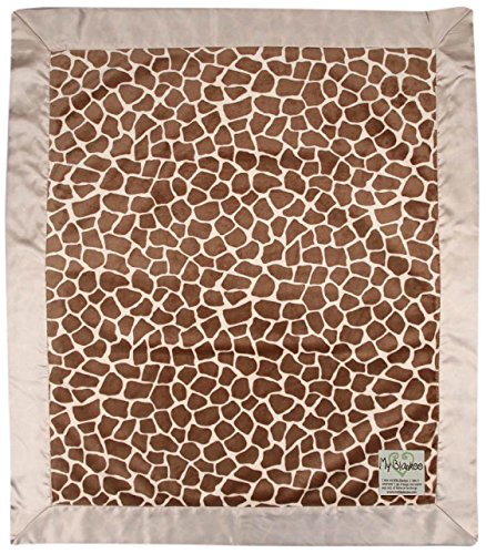 "My Blankee Giraffe Minky Baby Blanket, 30"" X 35"", Caramel"