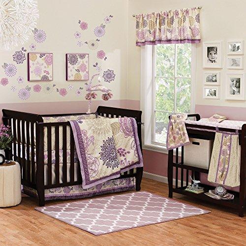 Dahlia 4 Piece Baby Crib Bedding Set by The Peanut Shell - 1