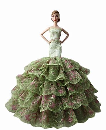 vêtements de poupée poupée variété de haut de gamme robe de mariée / vêtements