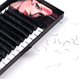 THINKSHOW Eyelash Extensions 0.20mm D Curl 12mm Individual Eyelashes Natural False Eyelashes Volume Lash Extensions Thick Individual Lashes Handmade Fake Eyelashes Salon Use (Tamaño: 12mm)