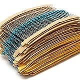 Ltvystore 2600pcs 130 Values 1 ohm - 820K ohm 1/4W Metal Film Resistors Assortment Kit Assorted Set