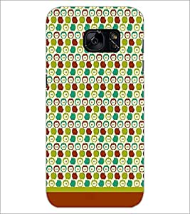 PrintDhaba Pattern D-1619 Back Case Cover for SAMSUNG GALAXY S7 (Multi-Coloured)