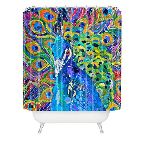 Deny Designs Elizabeth St Hilaire Nelson Cacophony Of Color Extra Long Shower Curtain, 71 By 94-Inch front-387174