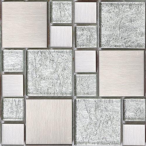 15-cm-x-15-cm-verre-et-acier-inoxydable-mosaique-carrelage-tapis-argent-avec-des-pierres-en-deux-tai