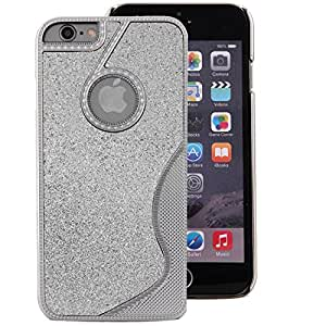 Ultra Thin Metal iPhone 6 6s Case 2 in 1 Luxury Twinkling Glitter Aluminum Hard Case Cover for Apple iPhone 6 4.7 inch - Silver