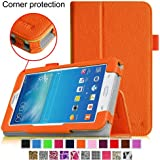[CORNER PROTECTION] Fintie Samsung Galaxy Tab 3 Lite 7.0 Folio Pro Case Cover for SM-T110 and SM-T111 3G 7-inch (3 Year Manufacturer Warranty) - Orange