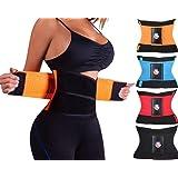 3-5 Days Delivery Fitness Waist Trimmer Women Postpartum Corset Belt Slimming Belly Waist Trainer Girdles Body Shapers Tummy Fat Burner (Color: Black, Tamaño: Fit Waist 35.5