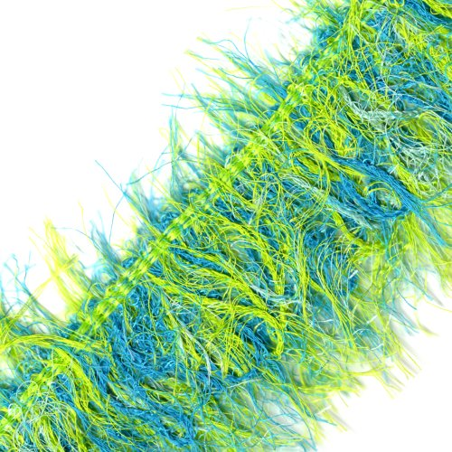 Venus Ribbon 14959-S 2-1/2-Inch Solid Ultralash Fringe, 3-Yard, Aqua