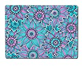Liili Placemat Kitchen Table 15.8 x 12 x 0.2 inches IMAGE ID: 17571166 Pink and blue sunflower pattern