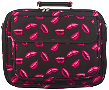 lip print computer bag
