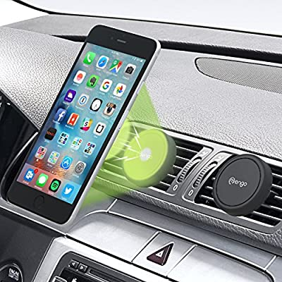 Car Mount, (2 Pack) Mengo Magna-Snap Mini Magnetic Air Vent Car Mount for Smartphones (iPhone, Samsung, HTC, LG, Nokia, & More), Mp3 Players, and GPS Devices - Retail Packaging by Mengo