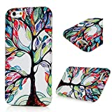 Iphone 6G / Iphone 6S Case (4.7 Inch) - BADALink Fancy Fabric Texture Surface Coated Anti-slip Silicone Back Protection Slim Fit Cover Case for Iphone 6G / Iphone 6S Case - Colorful Life Tree