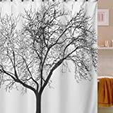 Vakind Waterproof Bathroom Fabric Shower Curtain