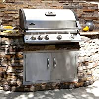Sunstone Grills Classic Series Flush Double Access Doors from Texas BBQ Wholesalers
