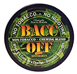 Bacc Off - Non-Tobacco Nicotine Free Herbal Snuff - Extra Wintergreen (10 Cans)
