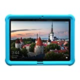 MingShore Kids-Friendly Shockproof Bumper for Huawei MediaPad T3 10 Model AGS-W09/L09 Also Fit BZA-W00/L00 9.6 Inch Tablet Silicone Rugged Case [Turquoise] (Color: Turquoise, Tamaño: 9.6 Inch)