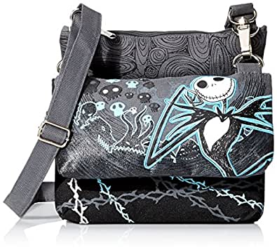 Tim Tim Burton's Nightmare Before Christmas Triple Compartment Shoulder Bag