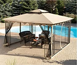 Amazon.com: 10'X12' GAZEBO REPLACEMENT CANOPY TOP: Patio, Lawn