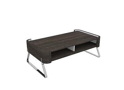 Table basse en mdf coloris Frêne Foncé, 110x60x37,5cm -PEGANE-