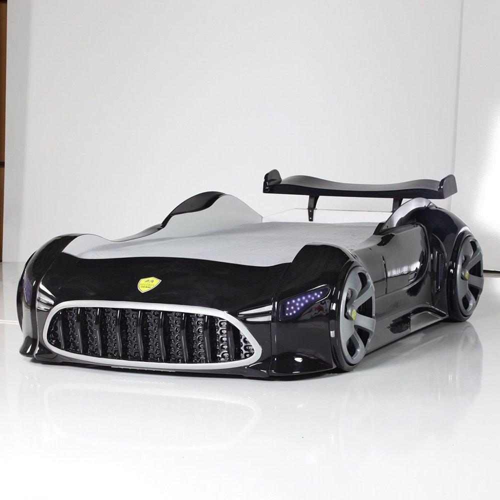 Rennwagenbett mit Beleuchtung Schwarz Pharao24 jetzt kaufen