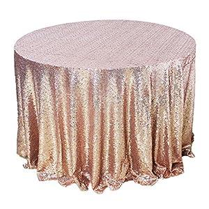Amazlinen tm premium quality rose gold round for 120 inch table linens