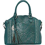 American West Women's Bandana Mesa Collection Convertible Zip Top Tote Turquoise One Size