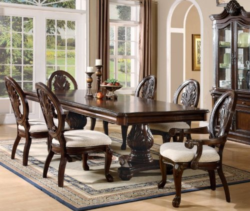 Coaster 101032 Tabitha Traditional Dining Side Chair: Buy Low Price Coaster 7pc Dining Table & Chairs Set With