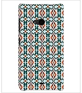 PrintDhaba Pattern D-5452 Back Case Cover for MICROSOFT LUMIA 535 (Multi-Coloured)