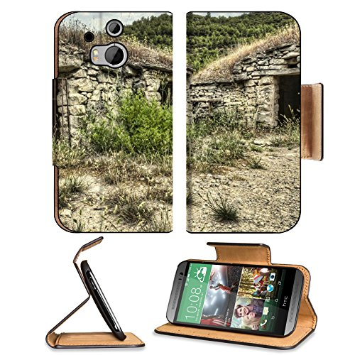 Stone Cellar Metal Bars Scenery Htc One M8 Flip Case Stand Magnetic Cover Open Ports Customized Made To Order Support Ready Premium Deluxe Pu Leather 6 4/16 Inch (158Mm) X 3 4/16 Inch (82Mm) X 9/16 Inch (14Mm) Msd Htc1 Cover Professional M 8 Cases M_8 Acc front-54813