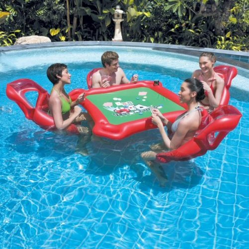 Texas Hold'em Inflatable Pool Poker Set by Bestway Pool Poker