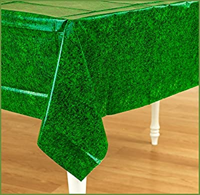 Amscan Mens Green Grass Plastic Tablecover from Amscan