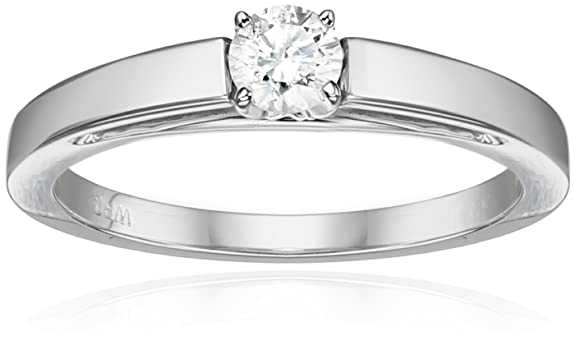14k Gold Round Cathedral Solitaire Diamond Ring AMAZON.COM