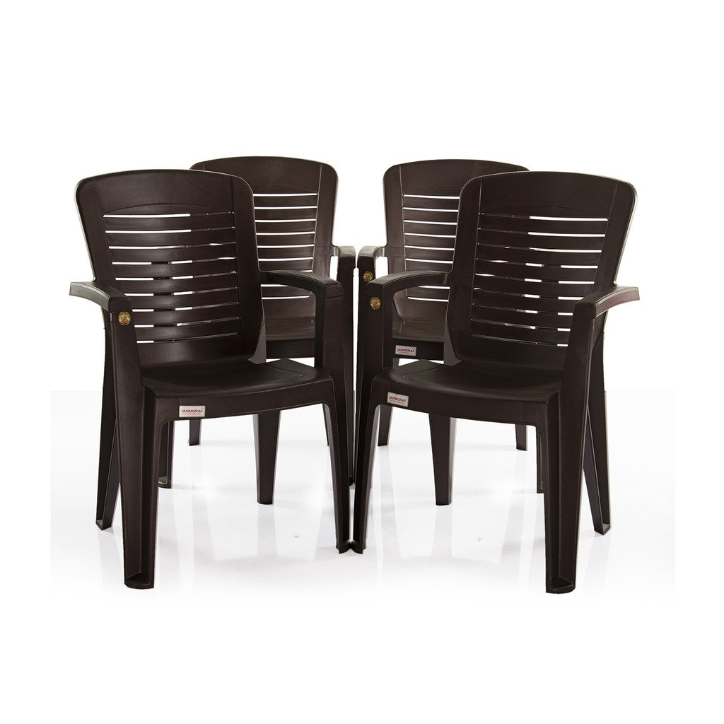 Varmora Premium Chair Set Of 4 Horiz Ergo Brown Best