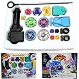 New Metal Fusion Top Rapidity Fight Master Rare Beyblade 4d Launcher Grip Set