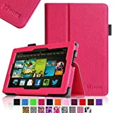 Fintie Amazon All New Kindle Fire HD 7 inch Slim Fit Folio Case with Auto Sleep / Wake Feature (will only fit All New Kindle Fire HD 7 2013 Model) - Magenta