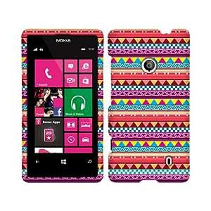 Amazon.com: Nokia Lumia 521 Pink Aztec Glossy Cover: Cell Phones