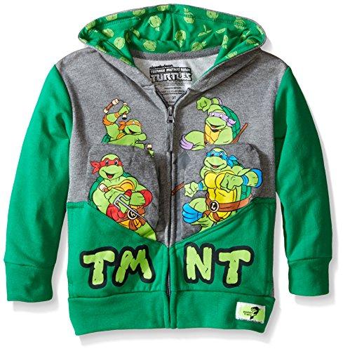 Pocket Frenz TMNT Toddler Boys Hoodie, Heather/Kelly, 4T (Kids Ninja Turtle Sweatshirt compare prices)