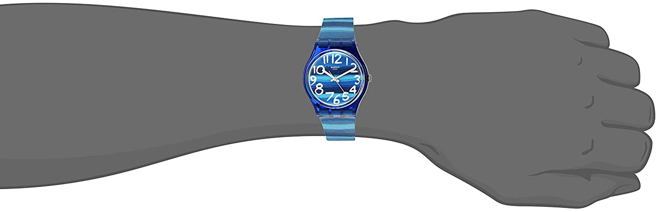 Swatch Unisex GN237 Blue Plastic Watch 5