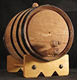 3L American Oak Barrel with Black Bands (3lb)