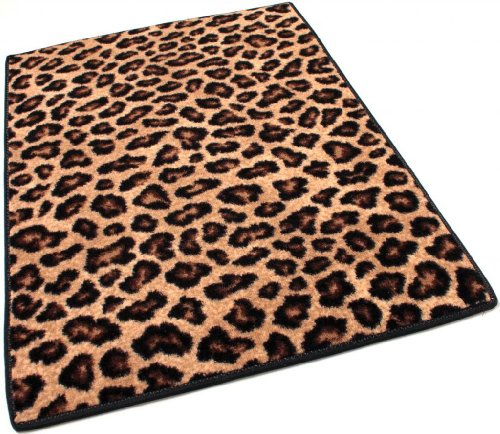 Runner 2.5'X9' Indoor Cut Pile Leopold Leopard Print Area Rug For Home With Premium Bound Polyester Edges.