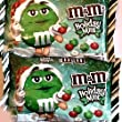 M&M\'s Mint Chocolate, Christmas Red, Green and White Candies, 9.9oz Bags 2 Pack