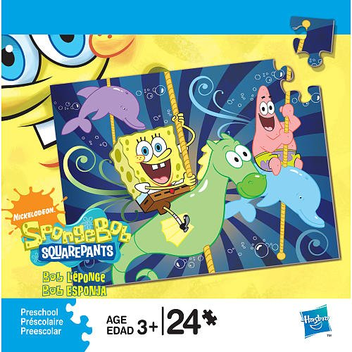 Cheap Fun Nickelodeon Spongebob Squarepants 24 Piece Puzzle (B002ZW3D1Y)