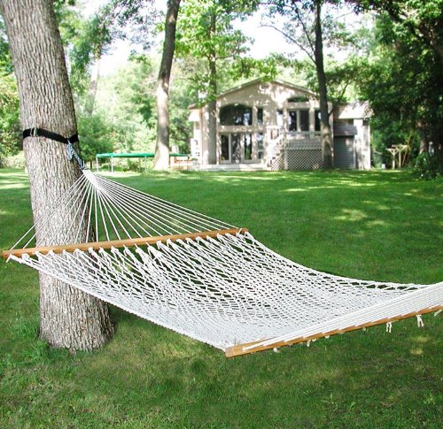 82″ x 58″ Natural Cotton Rope Double Hammock