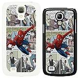 DC Marvel superhero comic book cover case for Samsung Galaxy S4 i9500 Spiderman - G730 - White