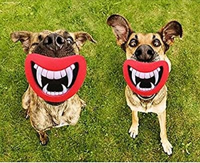 Hosaire 1X Funny Pet Dog Teeth Silicon Toy Puppy Chew Sound Novelty Dogs Play Toys