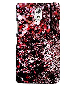 Blue Throat Red Flower Pattern Hard Plastic Printed Back Cover/Case For Lenovo Vibe P1M