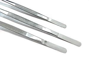 SE 3-Piece Tweezers Set with Serrated Tips
