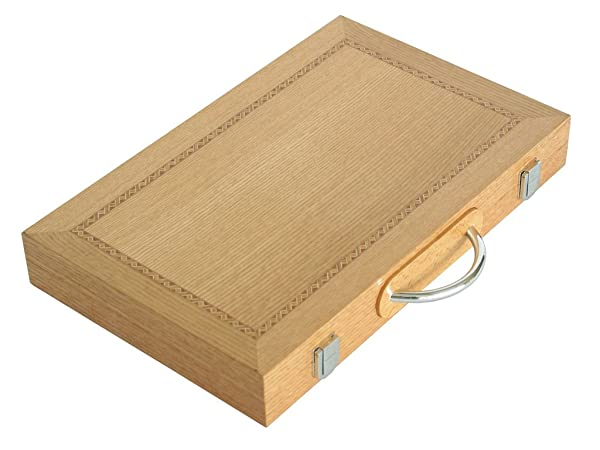 minimalist backgammon wooden board case