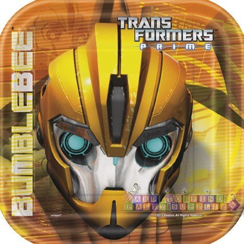"8 Transformers 7"" Square Plates"