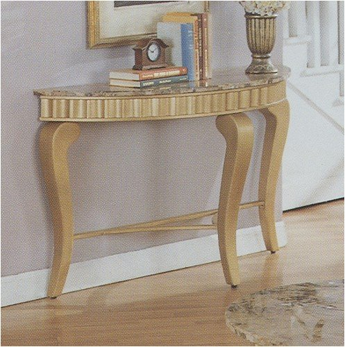 Cheap Neo Classic Console Sofa Table in gold marble solid hardwood (VF_F6034)